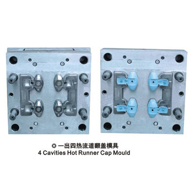 Flip Top Cap Mould with Cold Runner