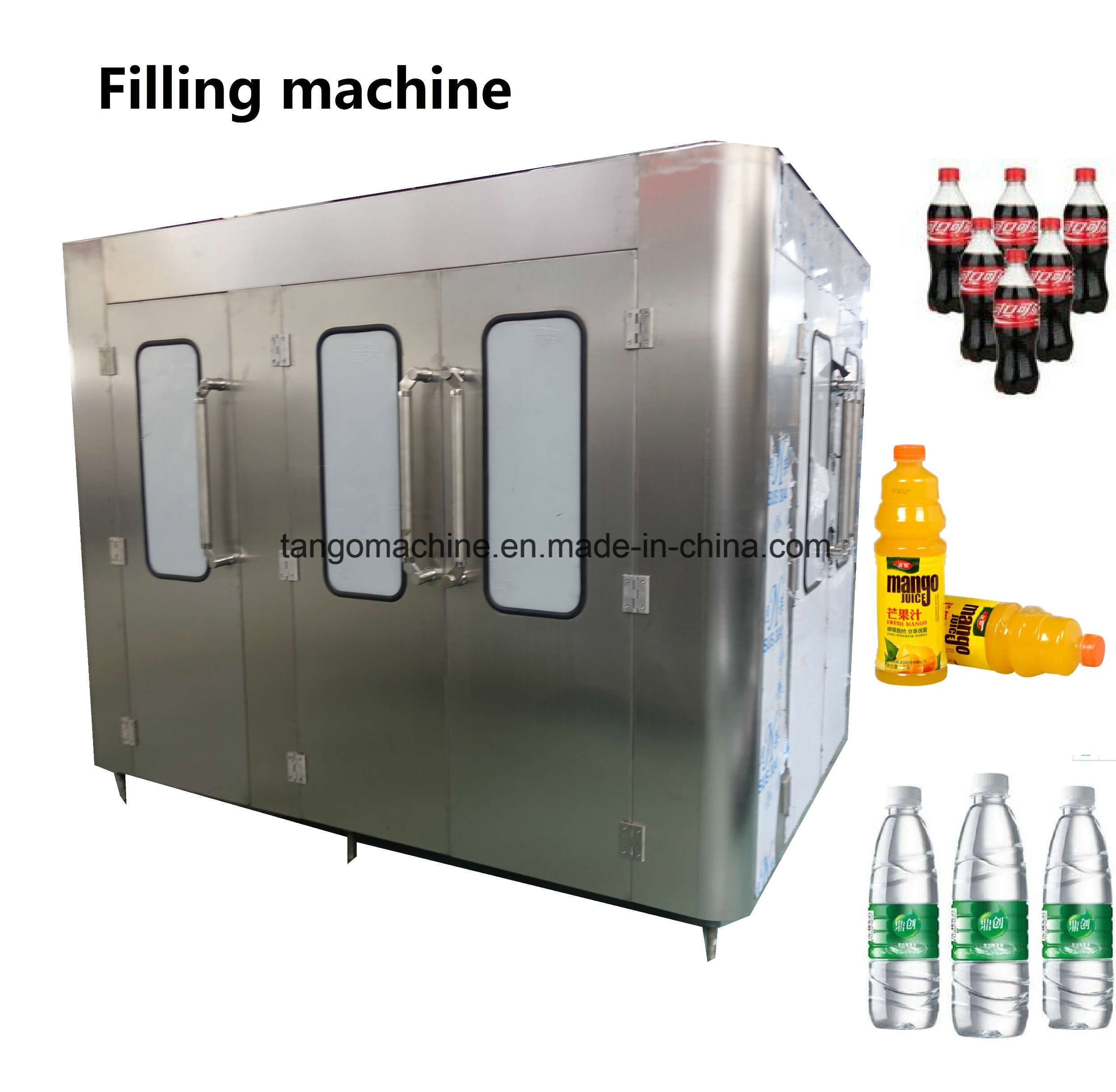Automatic China Packaged Bottled Drinking Water Bottle Filling Bottling Machine