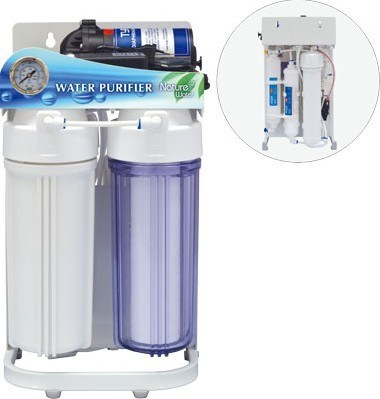 Puricom OEM Supplier Home Water Purifier with Frame and Pressure Gauge Nw-RO50-G