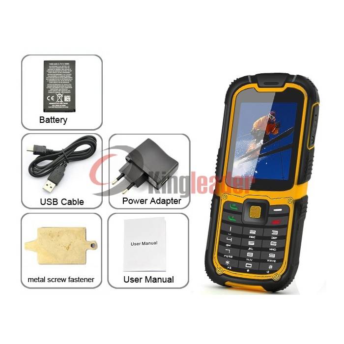 3G WCDMA Rugged Waterproof Mobilephone with Ce (W26C)