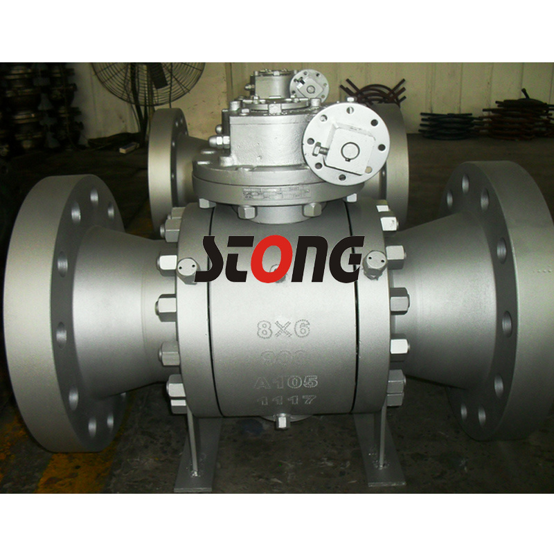 API Forge Steel Trunnion Mount Ball Valve of A105 600lb