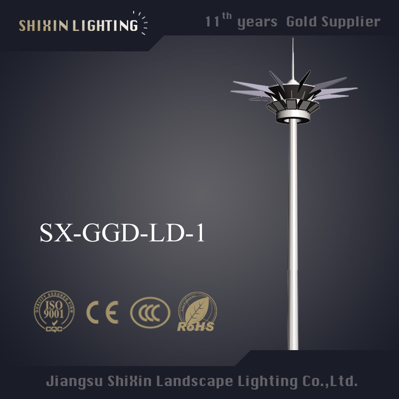 Prices of 1000W HPS 35m Steel Pole High Mast Lighting
