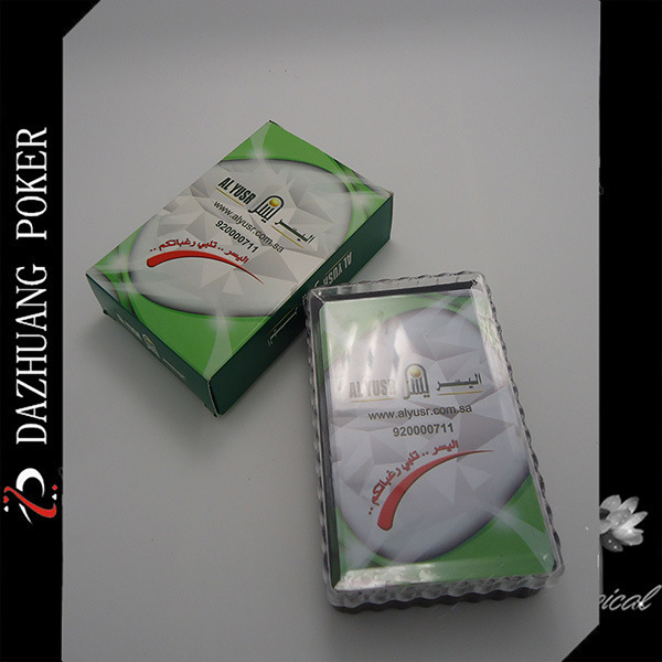 Al Yusr Promotional Plastic Playing Cards for Arabic Market