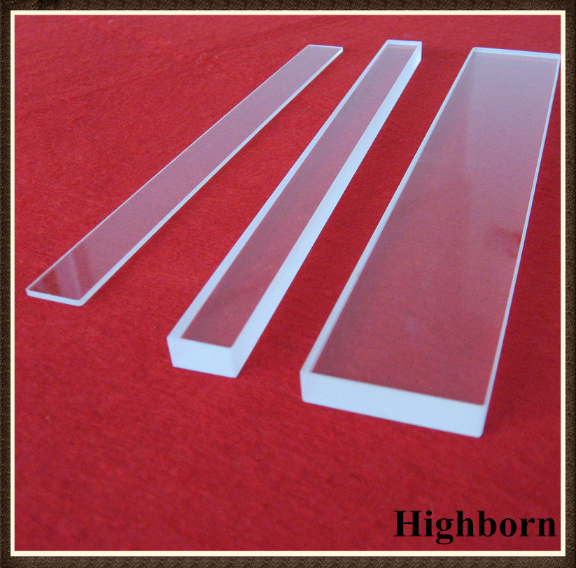 Clear Square Polished Silica Quartz Glass Plate