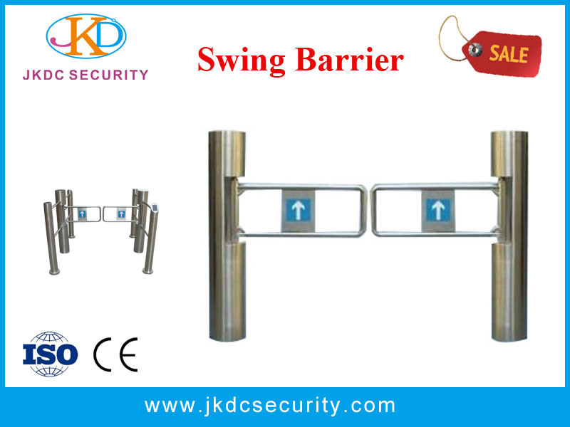 Stainless Steel Access Control Swing Barrier Portable Security Gate