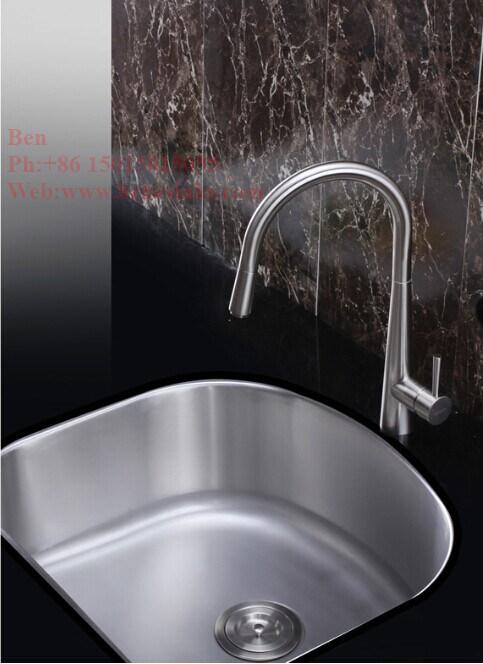 "23-1/2""X18-1/8"" Stainless Steel D Shape Under Mount Single Bowl Kitchen Sink"