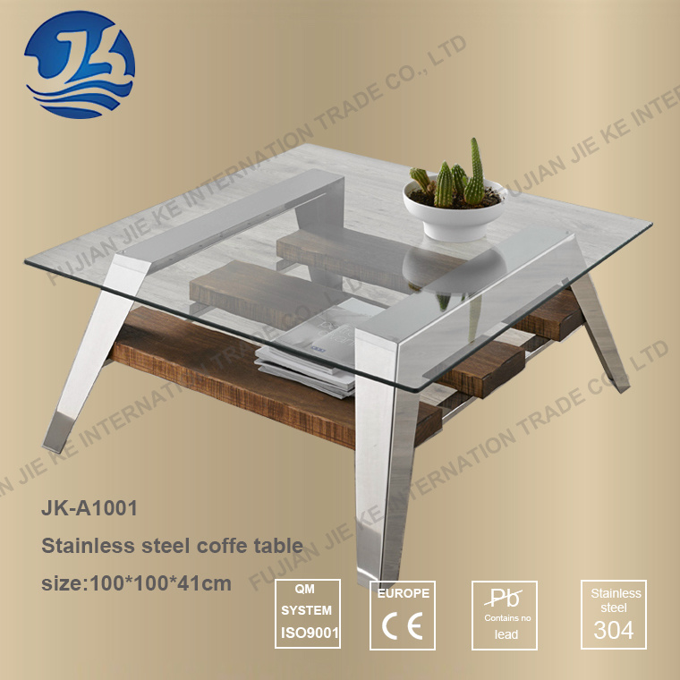 Nordic Modern Style Staninless Steel Coffee Table (JK-A1001)