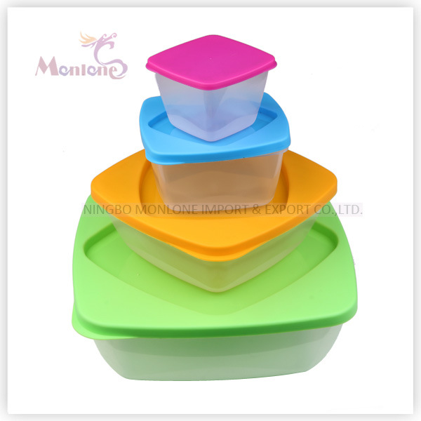 3pack Microwave Lunch Box, Plastic Storage Microwave Food Container (set) (230ml 590ml 1.25L)