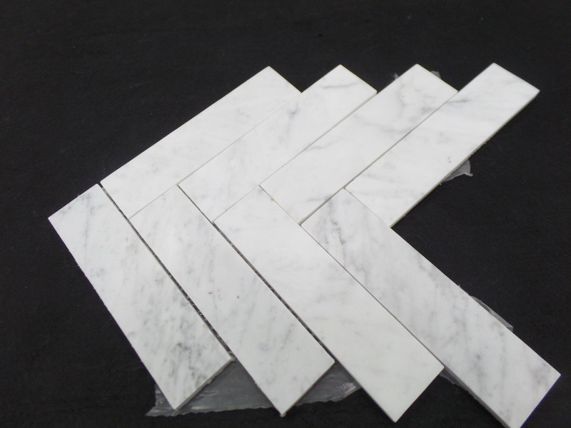 Natural White / Grey/Black Marble Mosaic Tiles for Kitchen / Bathroom Flooring