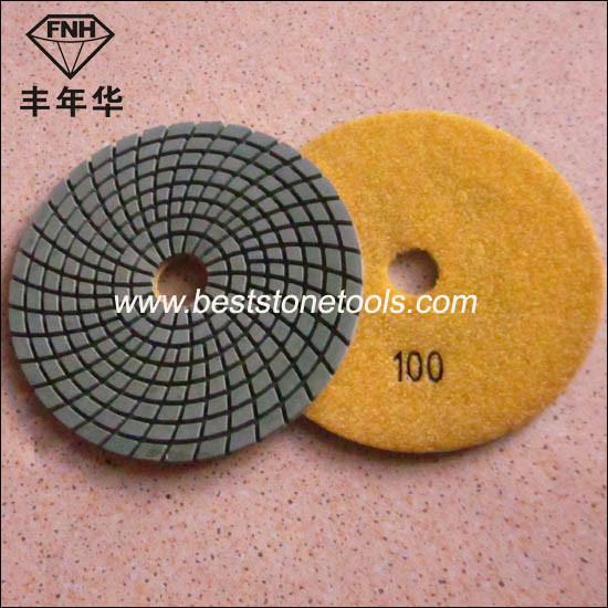 Wd-4 Diamond Wet Flexible Polishing Pad for Grinding Granite
