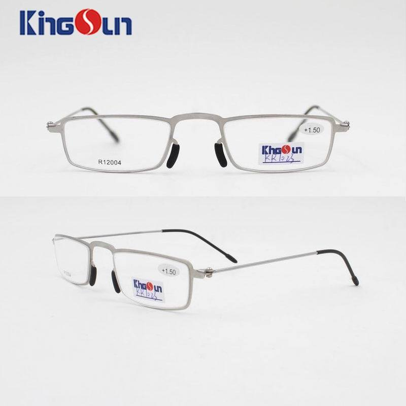 Steel Frame with Wire Temple Reading Glasses