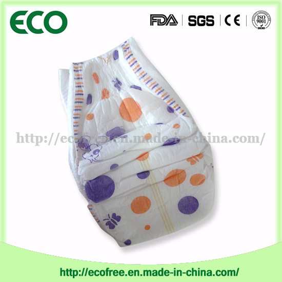 Extrathin Soft & Breathable OEM Disposable Baby Diaper with Big Waist Band