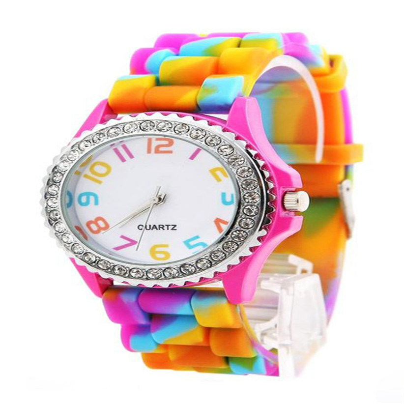 New Arrive 40mm Round Face Silicone Jelly Watch