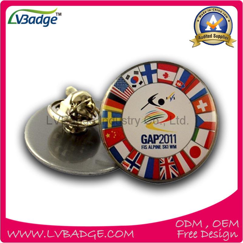 Promotional Hot Sale Printed Metal Pin Badge