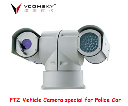 Vehicle PTZ Car Camera with Maximum 100m IR Range