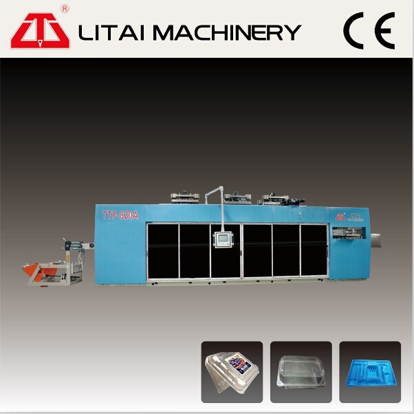 Four Station Plastic Thermoforming Machine for Making Trays