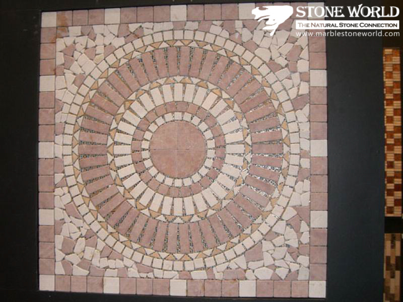 Marble Medallion Natural Stone Mosaic Pattern for Building Decoration