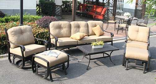Cozy Swivel&Glider Sofa Group Garden Furniture