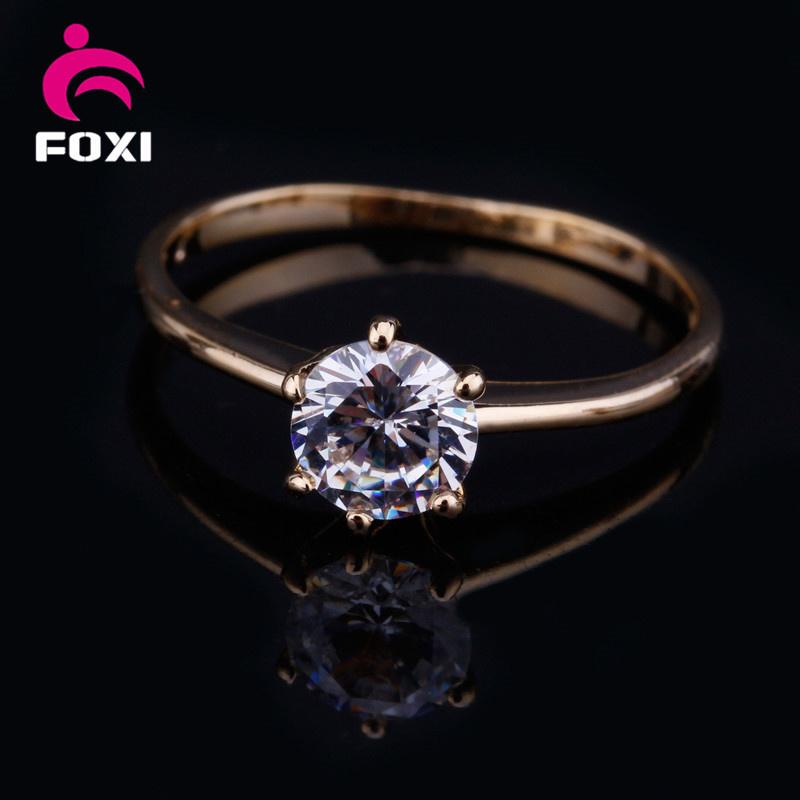 Factory Wholesale Cheap Gemstone Jewelry White Zircon Finger Rings