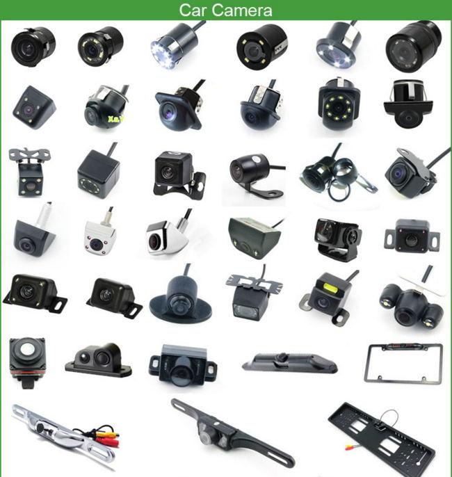 Car Rear View HD with 8 LED Light Night Vision Waterproof Mini Car Reversing Camera