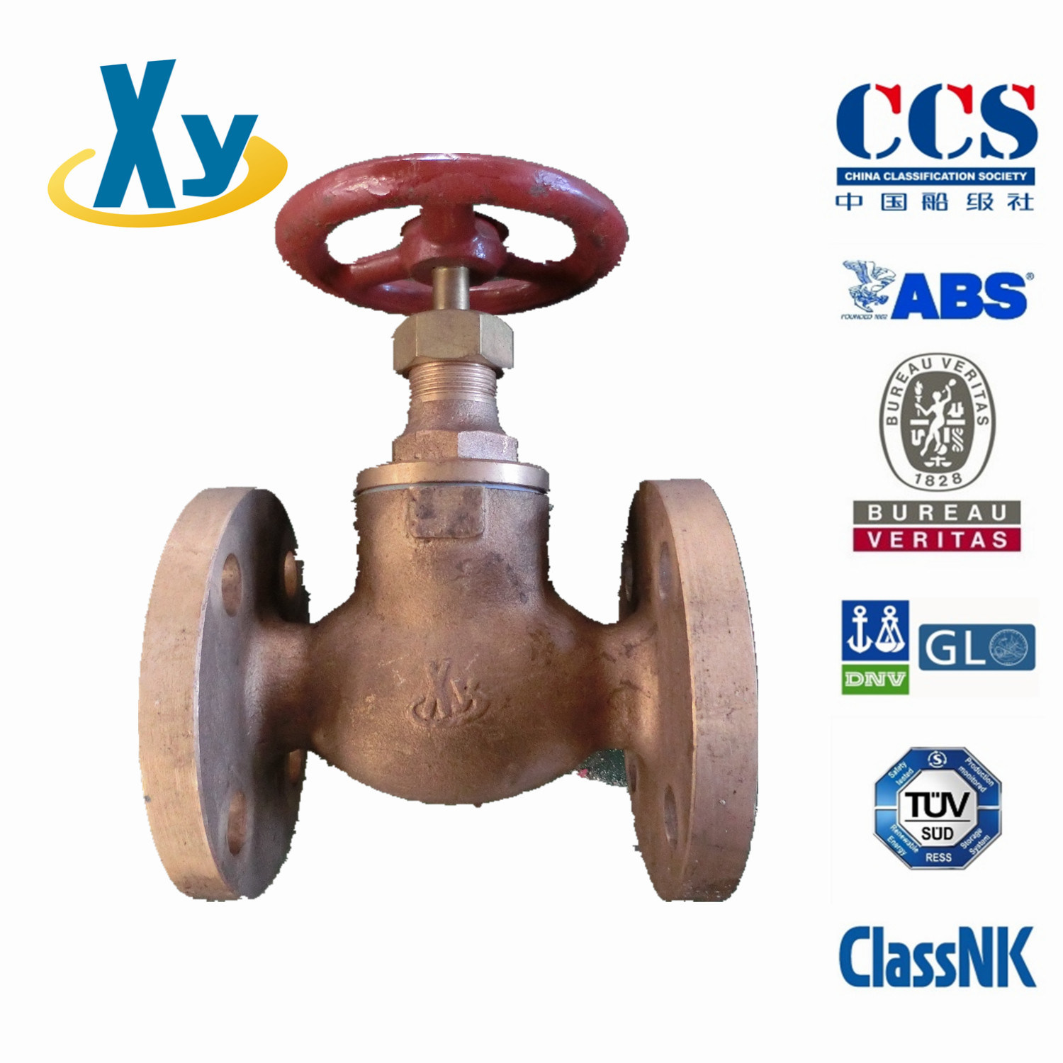 Marine Bronze Screw Down Non-Return Globe Valve F7351 F7352 5k