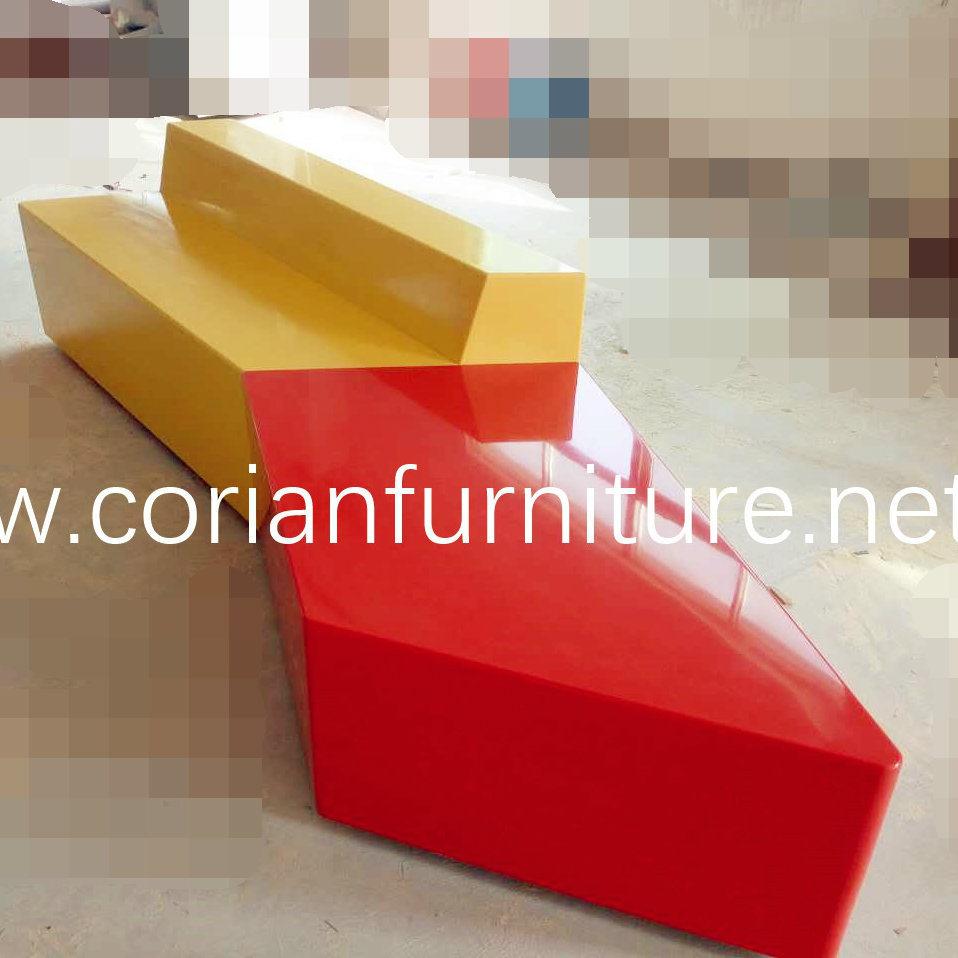 Hi Macs Acrylic Solid Surface Made Public Waiting Seat