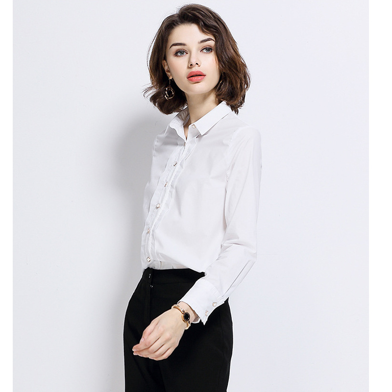 Ladies Fashion Latest Formal Long Sleeve Shirt Designs for Women