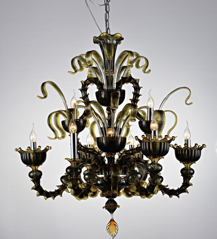 High Quality Lowest Price Murano Glass Chandelier (KA80240-9+1)