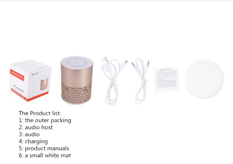 Mini Portable LED Light Wireless Bluetooth Speaker