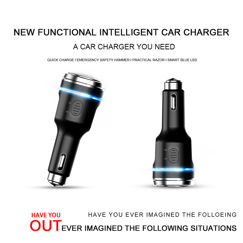 New 4 in 1 Multifunction Razor Smart Car Charger