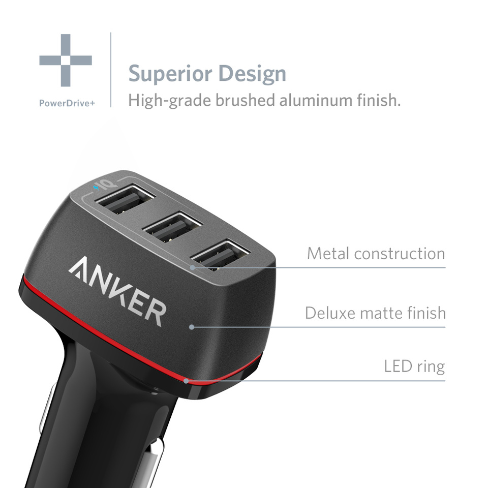 Anker 36W 3-Port USB Car Charger