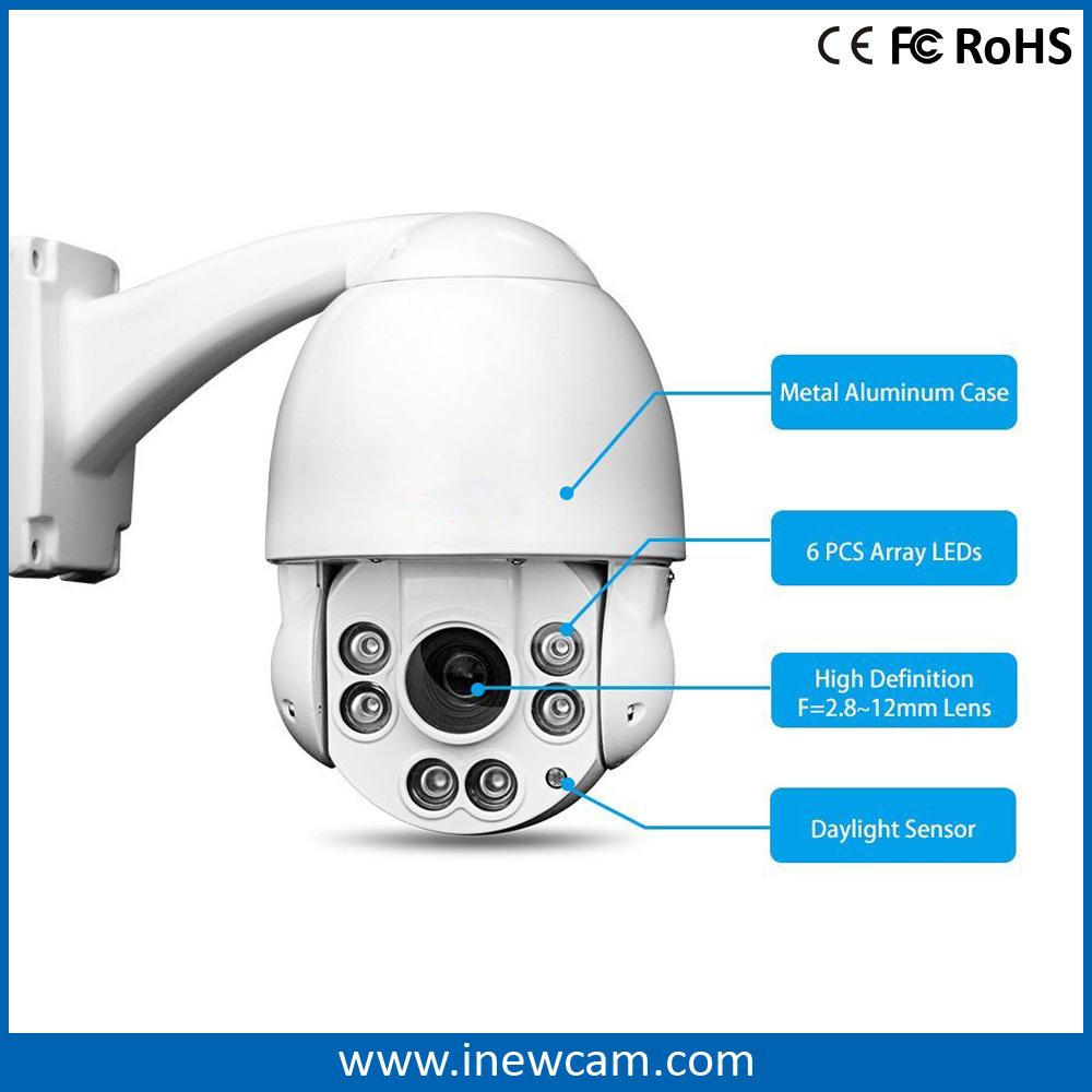 Hot 4 Megapixel 4X Optical Zoom PTZ Poe IP Camera
