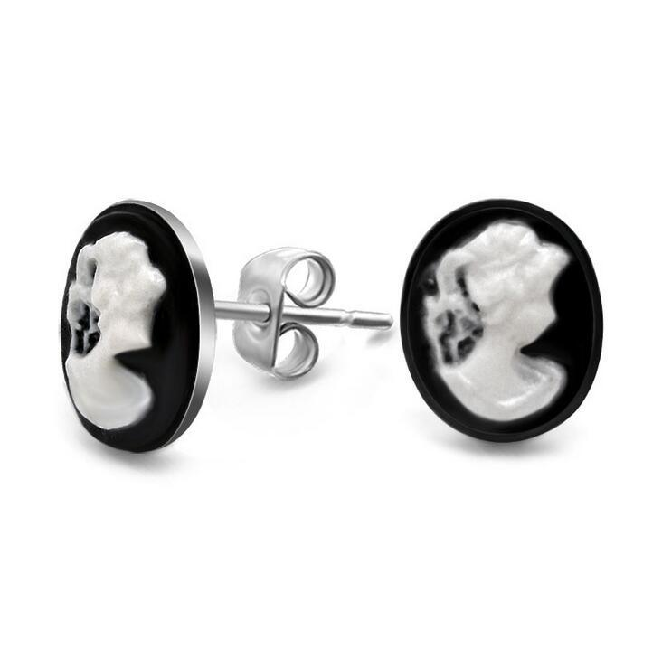 Vintage Women Stud Earrings Fashion Jewellery Titanium Steel