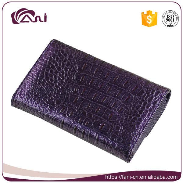 Crocodile Wallet Women, Small Genuine Leather Crocodile Grain Wallet