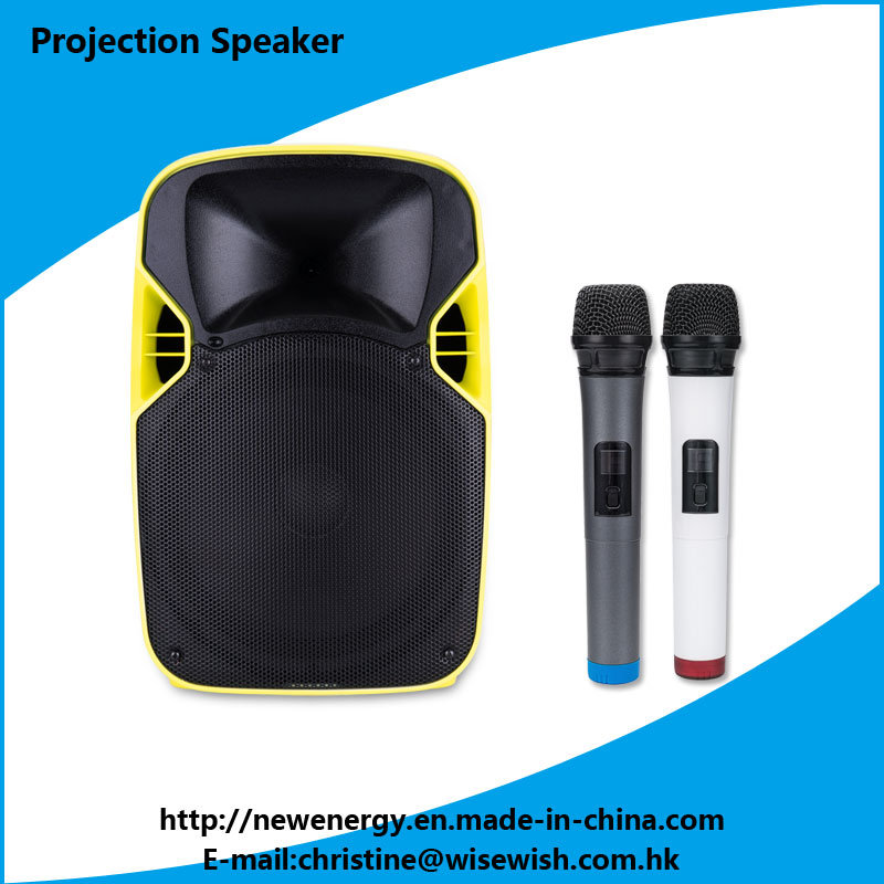 ODM Plastic PA System MP3 Speaker LED Projector
