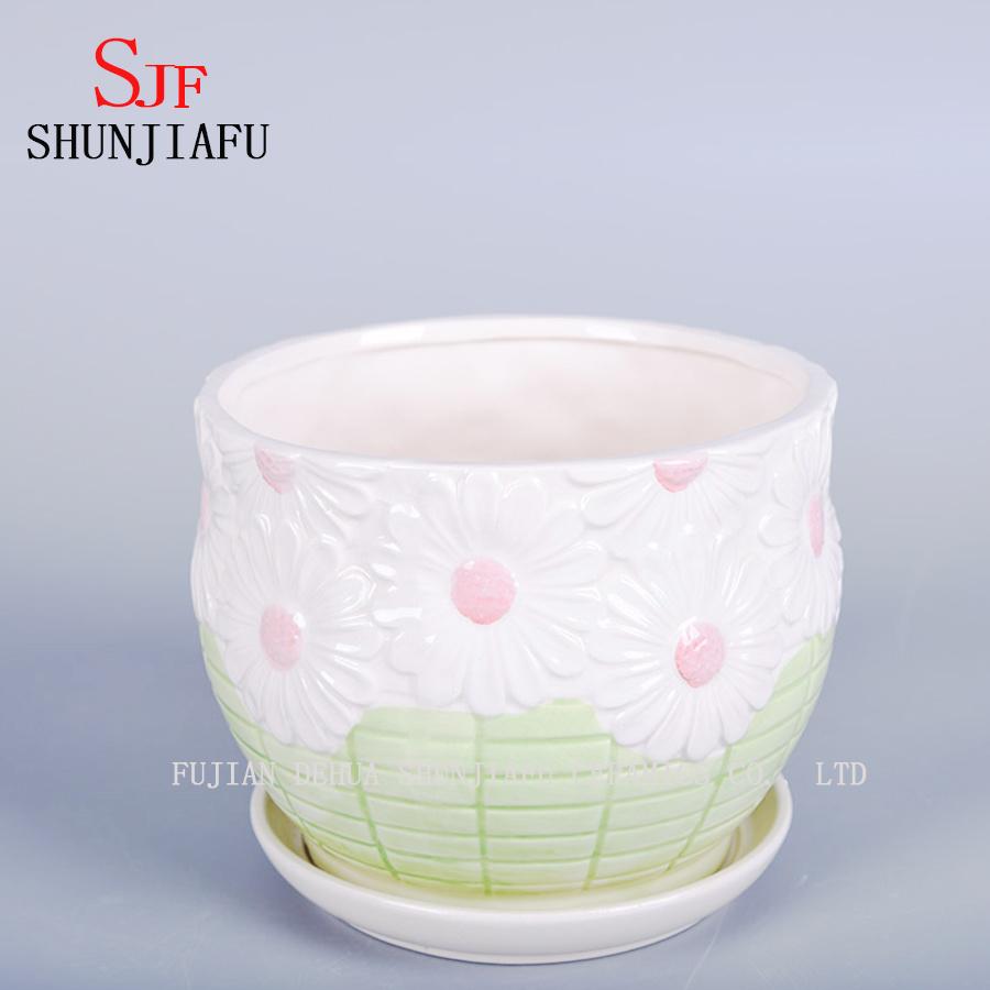 Stylish Home Furnishings Ceramic Vase The Balcony Flowerpot