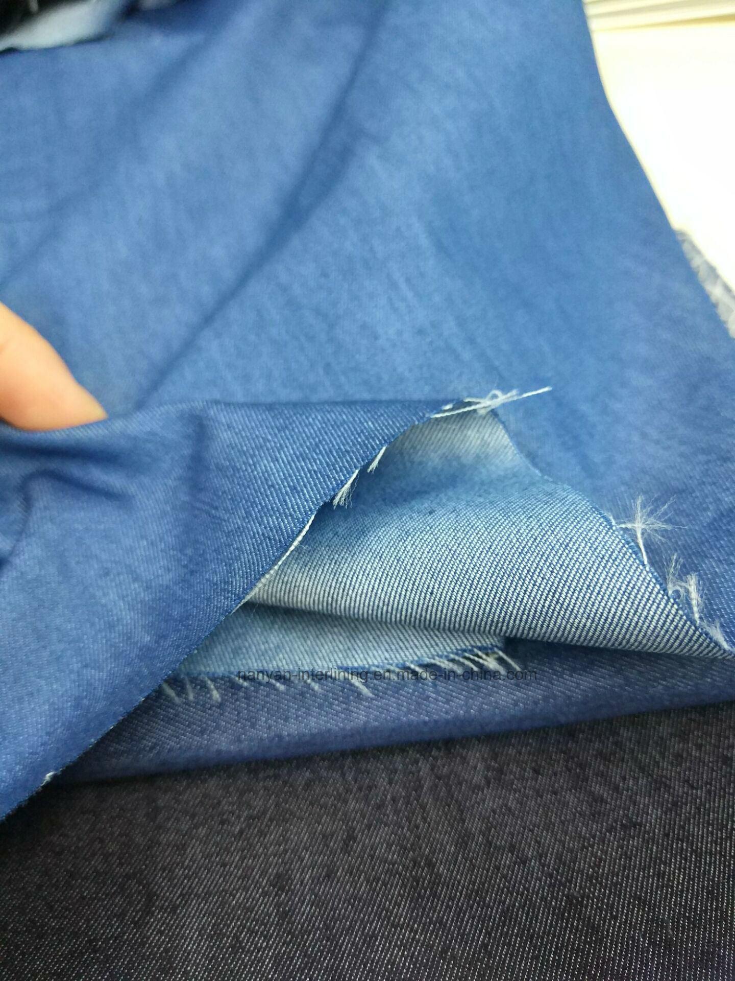 Woven Denim Fablic Indigo Twill Cotton Polyester Spandex Stretch Mercerizing