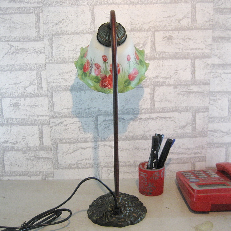 Clear Modern Tiffany Table Lamps with Glass Shades