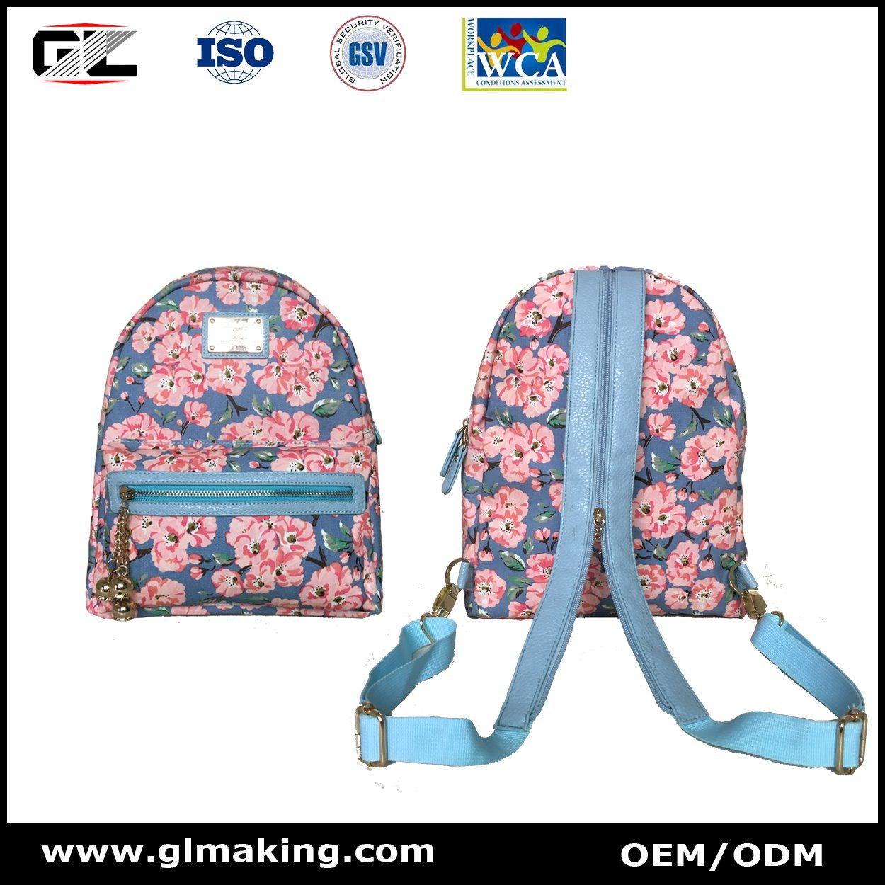 Fashion Flower Tote Bag & Mini Backpack