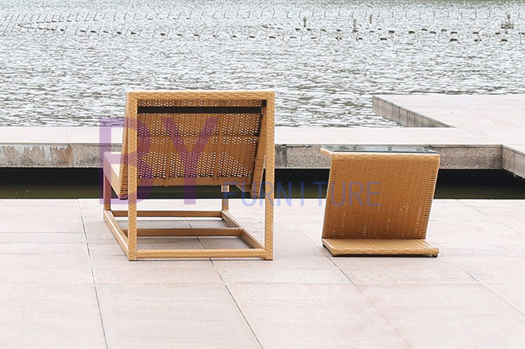 Boyue Beach Lying Bed PE Rattan Furniture
