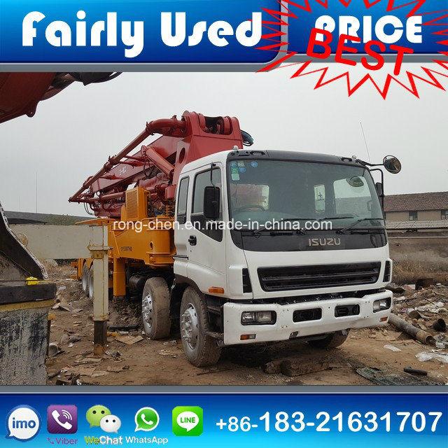 Good Condition Used Sany Isuzu Concrete Pump Truck 42m Rhd