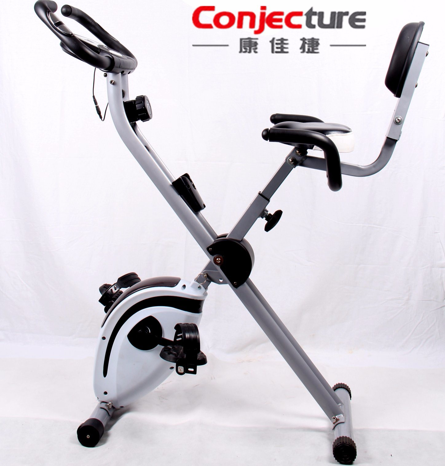 Folding Upright Magnetic Exercise X-Bike, Home Fitness Exercise Trainer