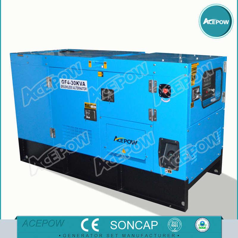 25kVA Isuzu Engine Soundproof Diesel Generator