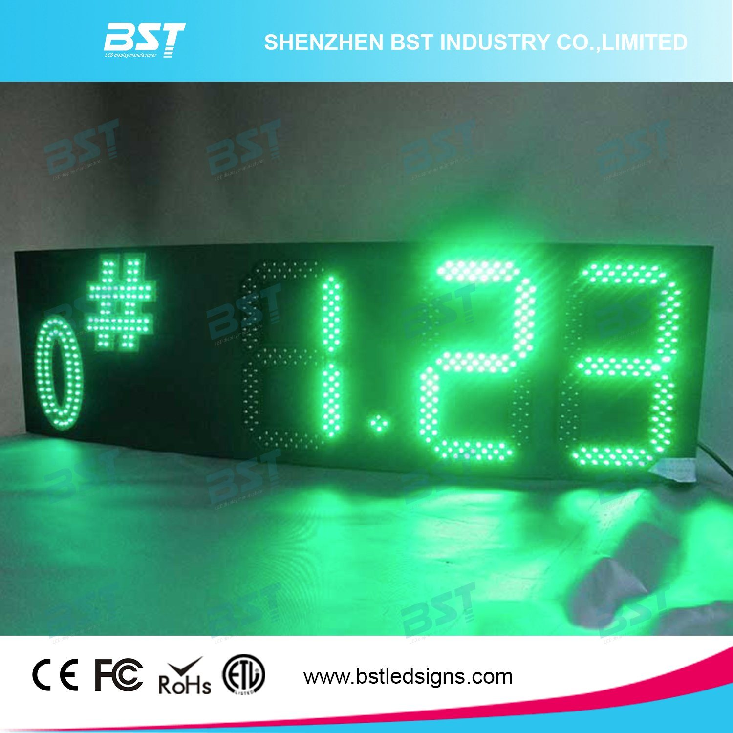 "Red/Green/Yellow/White Outdoor Waterproof Gas Price LED Sign (6""/8""/10""/12""/15""/18""/20""/22""/24"")"