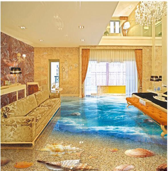 3D Floor Tile Sea World New Design Interior Tiles