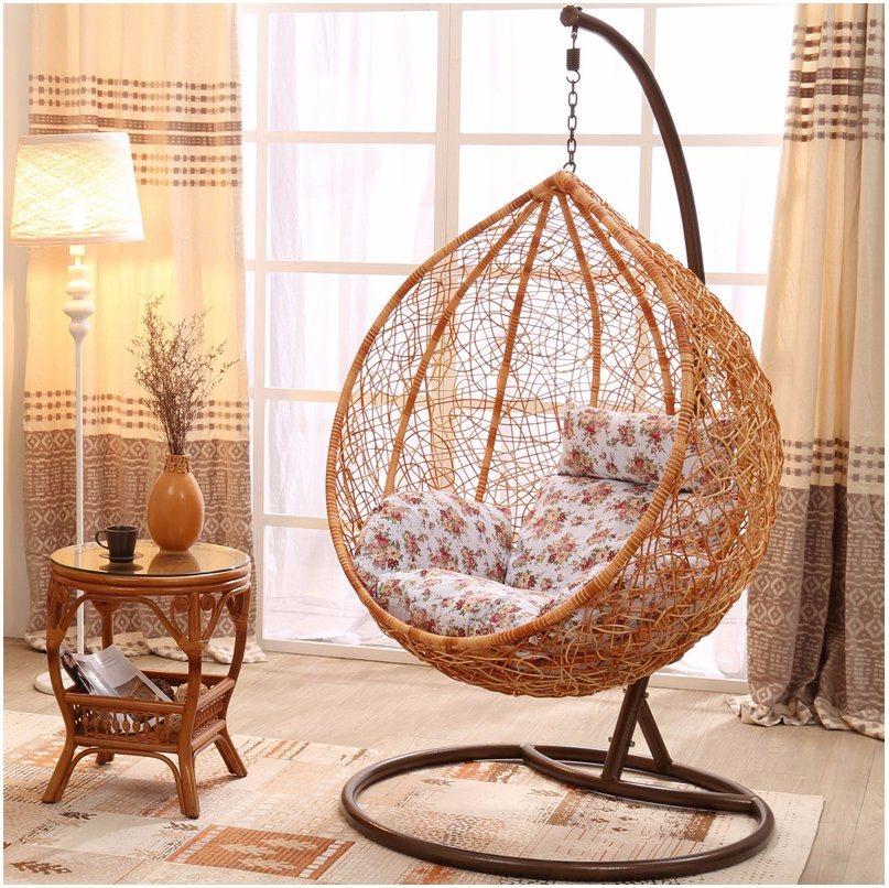 Modern Patio Garden Outdoor Home Hotel Office Leisure Dia5mm Wicker Hanging Chair (J808)