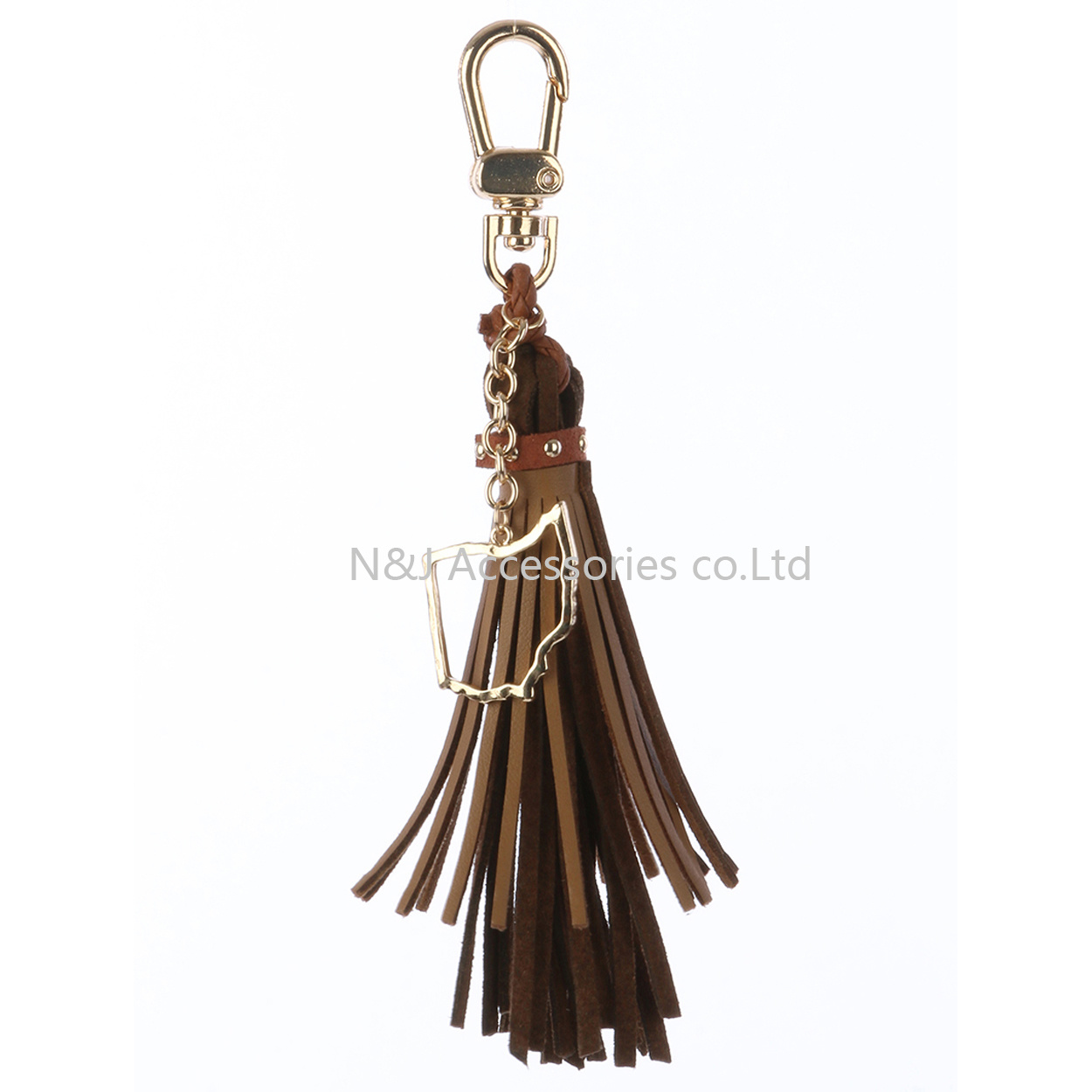 State of Ohio Charm Faux Leather Tassel Key Chain Ornament Gift
