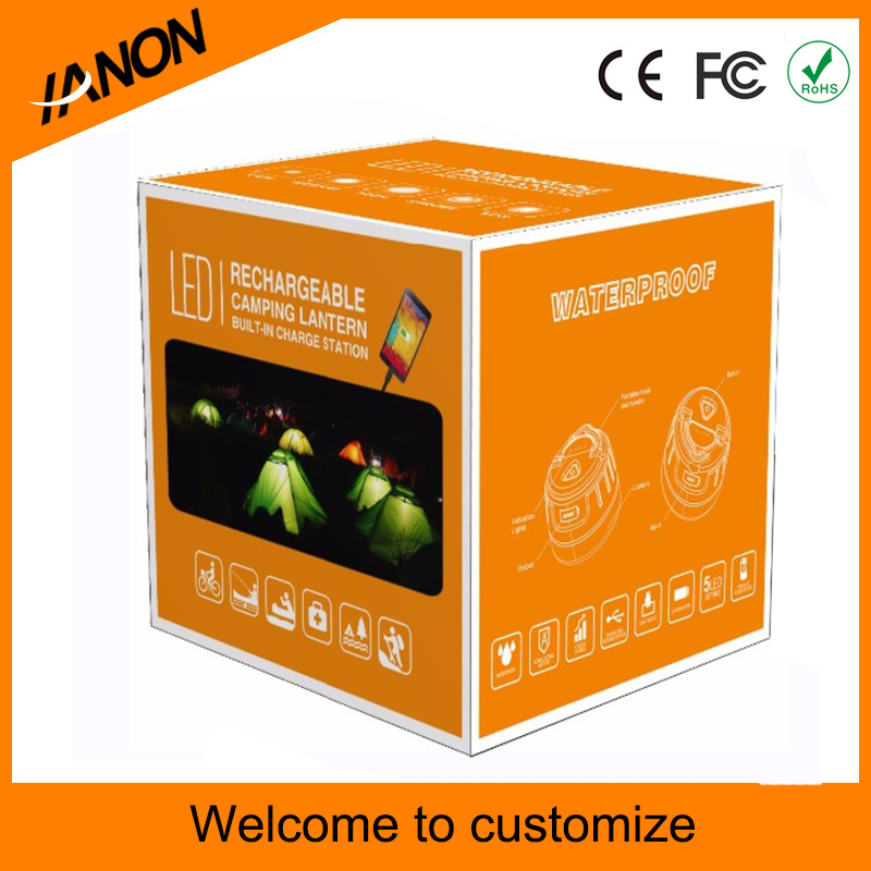 Rechargeable Camping Light 5 Modes Waterproof Emergency Light Camping LED Lantern with Super Magnet Power Bank