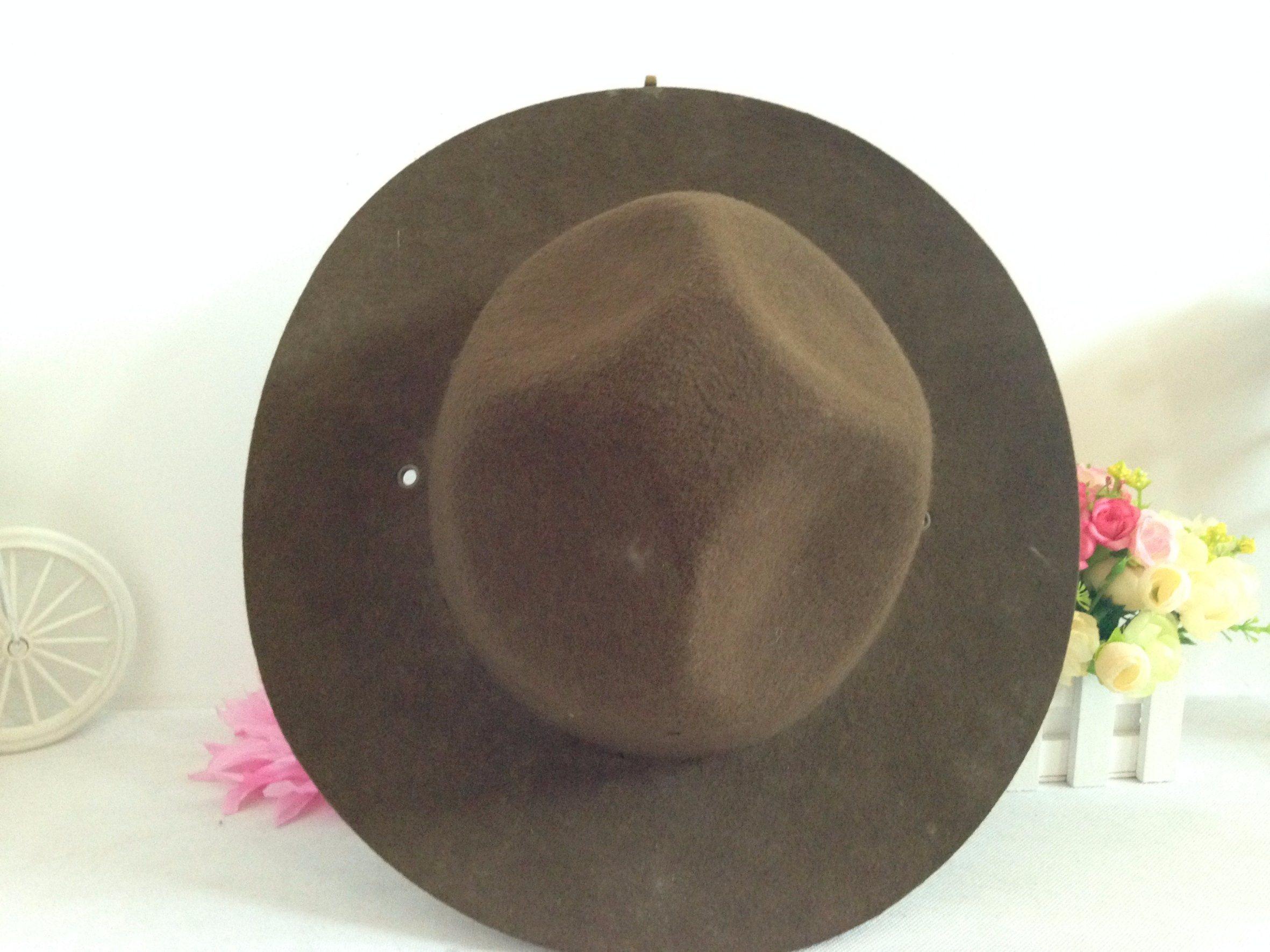 100% Wool Felt Military Fedora Hat in Hotsale