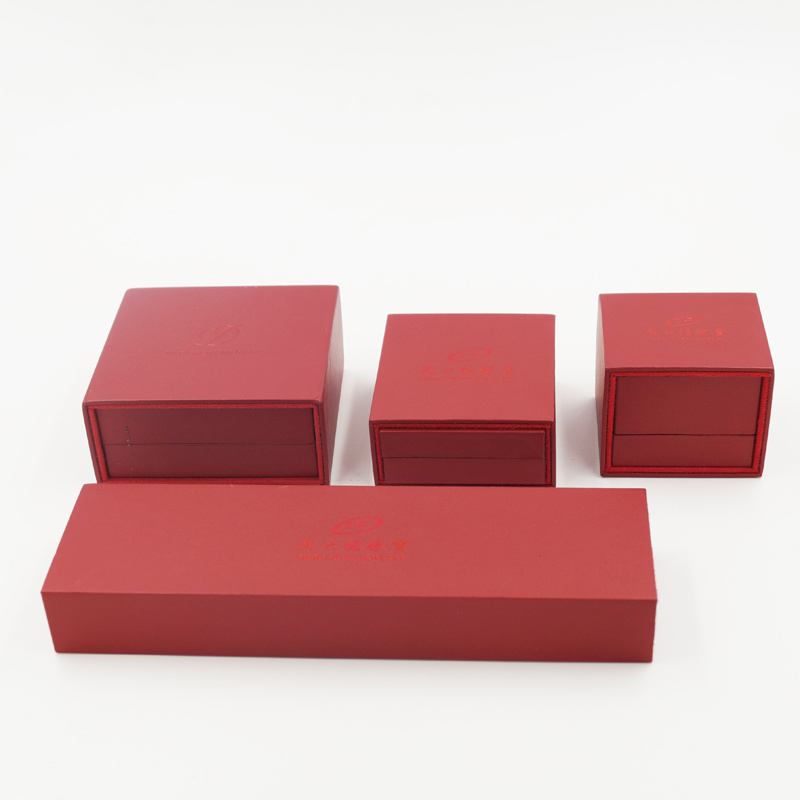 Ring Pendant Bracelet PU Leather Drawer Plastic Box (J54-E2)